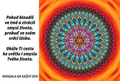 Mandala Probuď v sobě lásku Mandala Art, Advent, Symbols, Motivation, Glyphs, Icons, Inspiration