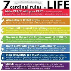 Inspirational Picture Quotes...: 7 Cardinal Rules of Life.