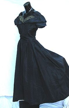 Hollywood Glamor 1950's 50's Evening Dress Gown by bonitalouise, $145.00