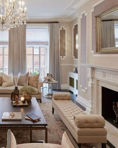 50 Charming and Cozy Neutral Living Room Design Ideas 36 - Home Decoration Living Room Interior, Home Living Room, Living Room Designs, Living Room Furniture, Furniture Stores, Cheap Furniture, Furniture Plans, Kitchen Furniture, Elegant Living Room