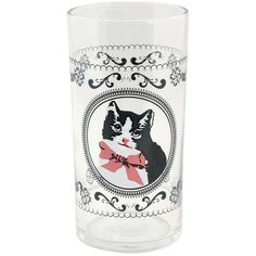 Fancy Cat Glass (9.35 CAD) ❤ liked on Polyvore featuring home, home decor, fillers, decor, extra, kitchen, cat home decor, glass home decor and pink home decor