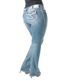 Silver Jeans Co. Indigo Dark Wash Curvy Suki Surplus Bootcut Jeans ...
