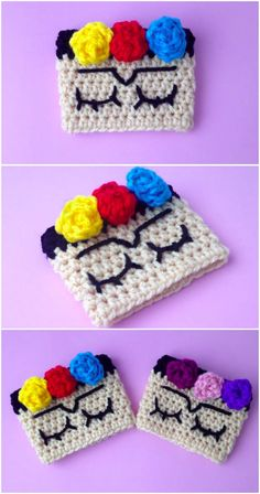 Frida Khalo is one of the best known artists in the world. Learn and crochet the Frida Khalo cup holder with the help of a very easy step by step instructions Crochet Gratis, All Free Crochet, Crochet Yarn, Crochet Potholders, Crochet Dolls, Crochet Coffee Cozy, Afghan Crochet Patterns, Crochet Afghans, Crochet Projects