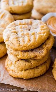 A tall glass of milk is a great match for these classic peanut butter cookies. Easy to make, easier to eat!