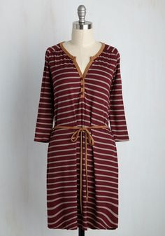 Henley Time, Any Place Dress. Why anticipate the right moment to sport this burgundy shirt dress when every second is perfectly opportune? #red #modcloth