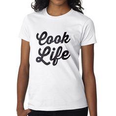 Women's White cook life t-shirt Ladies chef by OneUniformStore