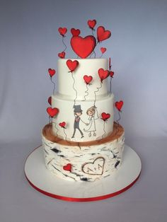 Wedding cake in love :) by Layla A