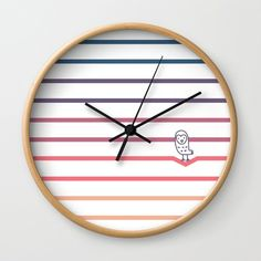 Buy #008 OWLY coloured perspectives 2 Wall Clock by owlychic. Worldwide shipping available at Society6.com. Just one of millions of high quality products available. #livingrooms #products #today #owlychic  #livingrooms #decors #building #product #clock #wall #wallclocks