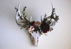 Deer Skull with Flower Crown by Meghan LaCroix