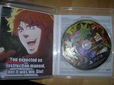 Nobody expect Dio & Manga Got Anime, Manga Anime, Jojo's Bizarre Adventure, Funny Images, Funny Pictures, Rasengan Vs Chidori, Jojo Memes, Stupid Funny Memes, Jojo Bizarre