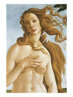 An Art Print I Own Showing the Detail of Venus in Boticelli's Birth of Venus.