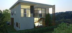 וילה בעיצוב מודרני 6 Houses, Mansions, House Styles, Home Decor, Homes, Decoration Home, Manor Houses, Room Decor, Villas
