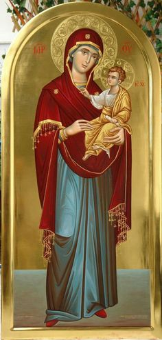 The Theotokos and the Christ Child Religious Pictures, Religious Icons, Religious Art, Religion, Church Icon, Mama Mary, Russian Icons, Blessed Mother Mary, Mary And Jesus