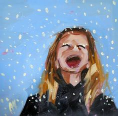 snowflakes+that+stay+on+my+nose+and+eyelashes+by+prattcreekart,+$9.00