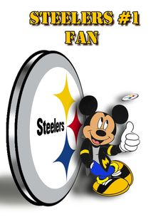 Loving my Mickey Mouse Steeler.