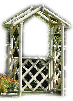 Cottage Garden Arch with Gate