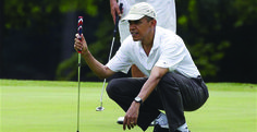'Exhausted' Obama to drive golf balls as ISIS drives on Baghdad, Twitter erupts INFOWARS.COM BECAUSE THERE'S A WAR ON FOR YOUR MIND
