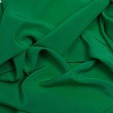 Kelly Green Silk Crepe de Chine