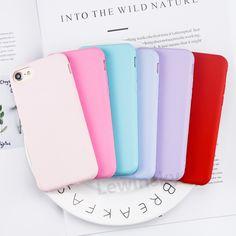 Cheap case for iphone, Buy Quality phone cases directly from China silicone case Suppliers: Soft Candy Color Matte TPU Phone Case for iPhone 6 7 8 Silicone Case for iPhone 7 8 6 Plus Girl 360 Degree Full Cover Case Iphone 7 Cases Luxury, Soft Candy, Iphone 6, Iphone Cases, Candy Colors, 6s Plus, Notebook, Cover, Delivery