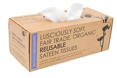 Credit: Better For GrownUps Better For GrownUps' reuseable organic cotton sateen tissues hark back to age-old idea of the hanky, yet they have the modern disposable aesthetic with their water-resistant cardboard tissue box packaging. If your nose is Recycling Information, Green Living Tips, Reuse Recycle, Reduce Reuse, Reduce Waste, Natural Baby, Natural Living, Green Life, Sustainable Living