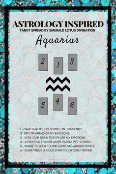Aquarius inspired tarot spread! For more tarot spreads visit: www.emeraldlotus.ca