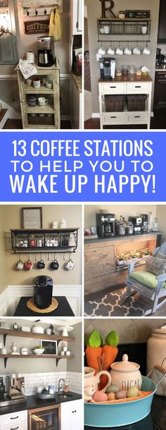 Home Coffee Station Ideas to Help You Wake Up in the Morning Totally in love with these home coffee station ideas! I need one of these in my life!Totally in love with these home coffee station ideas! I need one of these in my life! Coffee Nook, Coffee Bar Home, Home Coffee Stations, Coffee Corner, Classic Kitchen, Layout, Bathroom Floor Tiles, Organizing Your Home, Home Decor Inspiration