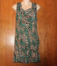 NEW DIRECTION MULTI COLOR ANIMAL PRINT TUNIC TOP OR DRESS SIZE LARGE #NEWDIRECTION #Tunic