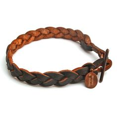 Leather Bracelet Men's Brown, $35, now featured on Fab.