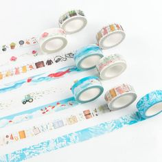 1pc/lot 15mm Cute decoration tapes DIY fashion adhesive masking paper tape Office material School kids supplies (tt-2605)