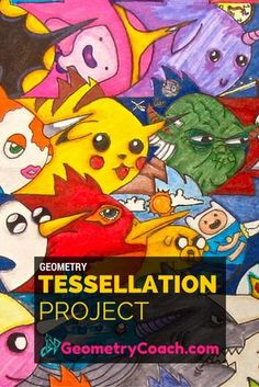 How to do the Tessellation Project with your Geometry Class - Step by Step - http://geometrycoach.com/tessellation-project/