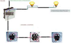 Esquemas eléctricos: CONMUTADAS MAS CRUZAMIENTO