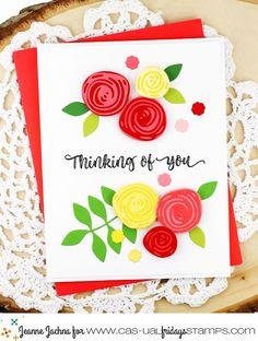 CASual Fridays Peaceful Garden Stamp and Garden Fri Dies #card #cardmaking #stamp #stamping #thinkingofyou #rose #die #casualfridays #diycard #handmade