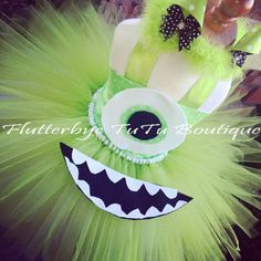 Hey, I found this really awesome Etsy listing at https://www.etsy.com/listing/194948968/mike-wazowski-costume-halter-corset-tutu