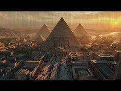 Egypt, Pyramids - such amazing! Get your daily source of luxury travel and amazing destinations ideas for everyday. Stay with us and let's explore together the travel world. Fantasy City, Fantasy Places, Fantasy Art Landscapes, Fantasy Landscape, Egypt Concept Art, Egypt Art, Valley Of The Kings, Egypt Travel, Fantasy Setting