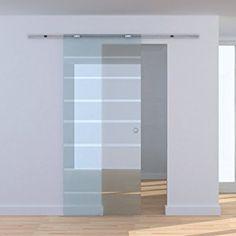 Homcom® Glasschiebetür Schiebetür Glastür Zimmertür teilsatiniert 775 / 900 / 1025 x 2050 mm (Modell1/ 1025 x 2050 mm)
