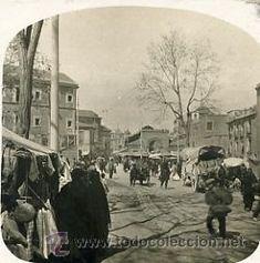 Fotografía antigua: FOTOGRAFÍA ANTIGUA ESTEREOSCÓPICA. MURCIA. EL MERCADO c. 1900  - Foto 2 - 32935437