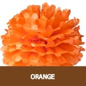 Tissue Paper Pom-Poms Solid Colors