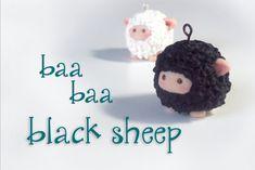 """""""Baa Baa Black Sheep"""" Polymer Clay"""