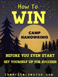 How to Win Camp #NaNoWriMo: Set up for success. #thewritersaurus.com's 4 tips to start this summer's #Camp NaNoWriMo off right! #writing