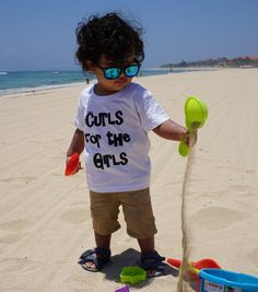 'Curls for the Girls' Unisex Baby & Toddler Tee T shirt babywear toddlerwear kids fashion trend setter baby swag curly hair crazy hair retro unique handmade hand designed Curls For The Girls, Baby Swag, Girls Tees, Crazy Hair, Hand Designs, Unisex Baby, Little Princess, Baby Wearing, Little Boys