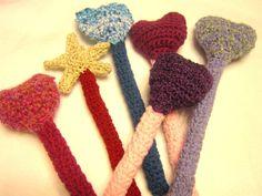 One Crochet Fairy Wand  You Choose by crochetedbycharlene on Etsy, $9.00