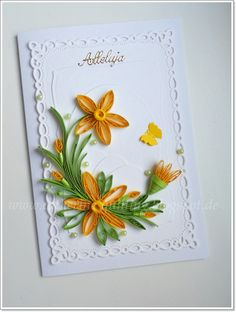Part 1 of 2--- Quilling of Catherine: ... Quilling Easter part II ...