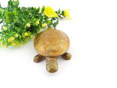 Brass Turtle - Brass Turtle Trinket Dish - Brass Tortoise Trinket Box - Tortoise Figurine - Brass Jewellery Trinket - Turtle Decor