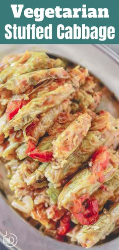 This tutorial is all you need to make the BEST Vegetarian Stuffed cabbage rolls! You'll love the Mediterranean twist and the flavor-packed rice stuffing with fresh herbs and spices. It comes with great tips and a prepare-ahead option. Vegetable Recipes, Vegetarian Recipes, Cooking Recipes, Healthy Recipes, Vegetarian Stuffing, Raw Recipes, Veggie Meals, Veggie Food, Healthy Foods