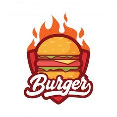 Burger logo Premium Vector Food Logo Design, Logo Food, Burger Icon, Burger Vector, Unique Business Names, Fast Food Logos, Anime Wallpaper Live, Logo Restaurant, Hot Dog Cart