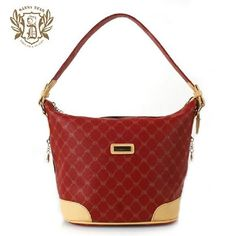 Luxury European PVC Casual Shoulder Bags Red For Women