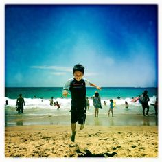 Bonds fans share their Aussie beachside moments with their little Nippers.