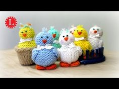 LOOM KNIT Toys on a Round Knitting Loom (Tiny Chicks Project) Loomahat - YouTube