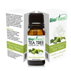 BioFinest Tea Tree Oil - 100% Pure Tea Tree Essential Oil - Therapeutic Grade - Australia Premium Quality - Best For Aromatherapy, Acne and Skin Tag Removal - Gift and Travel Packaging (10ml) => Review more details here : coconut essential oil