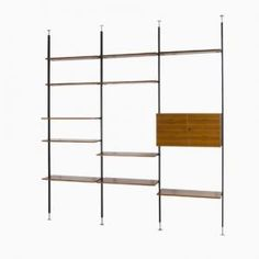 Mid-Century Walnut Shelving Unit by U.P. Wieser for Wohnbedarf